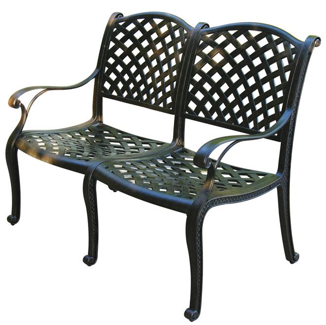 Patio Furniture Bench Cast Aluminum Nassau