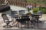 Patio Furniture Dining Set Cast Aluminum 72