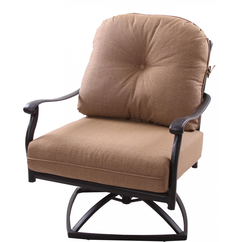 Patio Furniture Cast Aluminum Deep Seating Rocker Swivel Club Chair Sedona