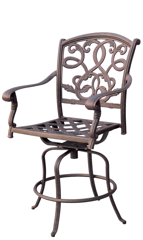 Patio furniture cast aluminum counter stool swivel santa for Caste furniture