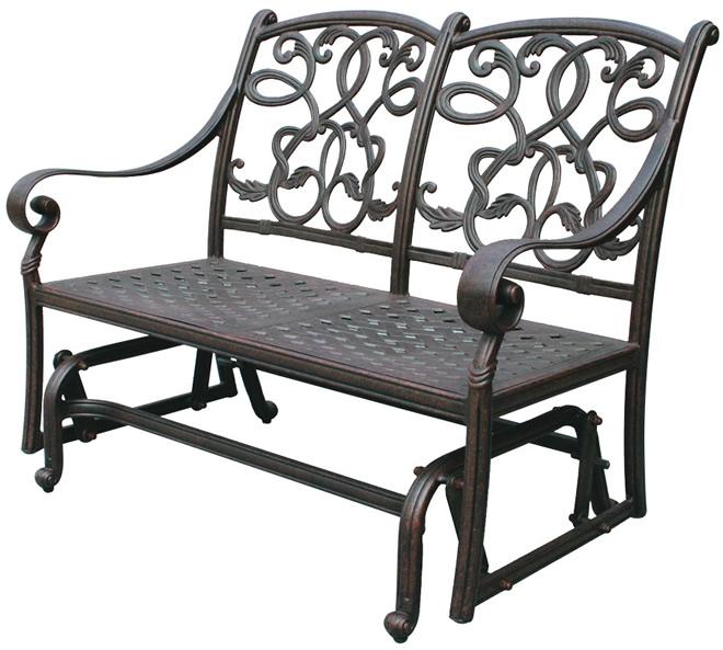 Patio Furniture Glider Bench Cast Aluminum Loveseat Santa Monica