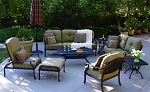 Patio Furniture Deep Seaing Set Cast Aluminum (7 Seatings) Nassau