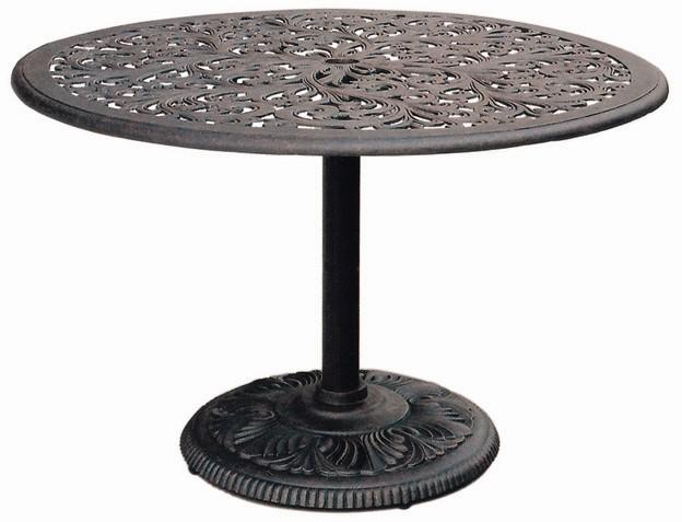Patio Furniture Table Dining Cast Aluminum 42 Round Pedestal Series 80