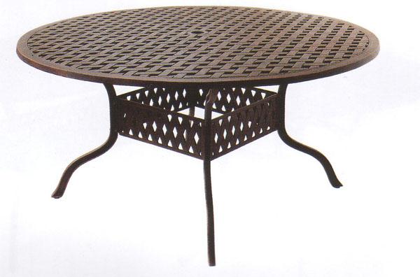 """Patio Furniture Table Dining Cast Aluminum 60"""" Round Series 30"""