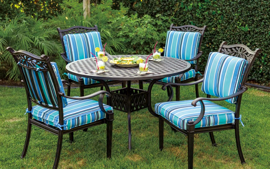 Patio Furniture Dining Set Cast Aluminum 42 Or 48 Round