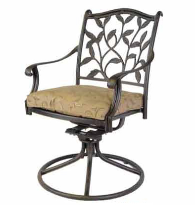 Patio Furniture Rocker Swivel Cast Aluminum Arm Chair Ivyland