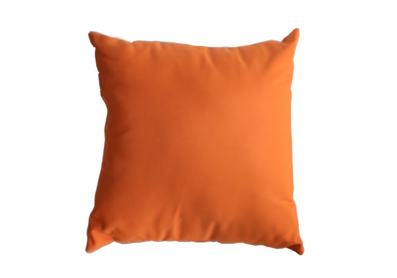 Throw Pillow In Sunbrella Canvas Tangerine 5406