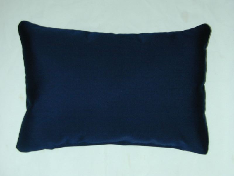 Lumbar Pillow 12 X 18 Set Of 2 Sunbrella Canvas Navy