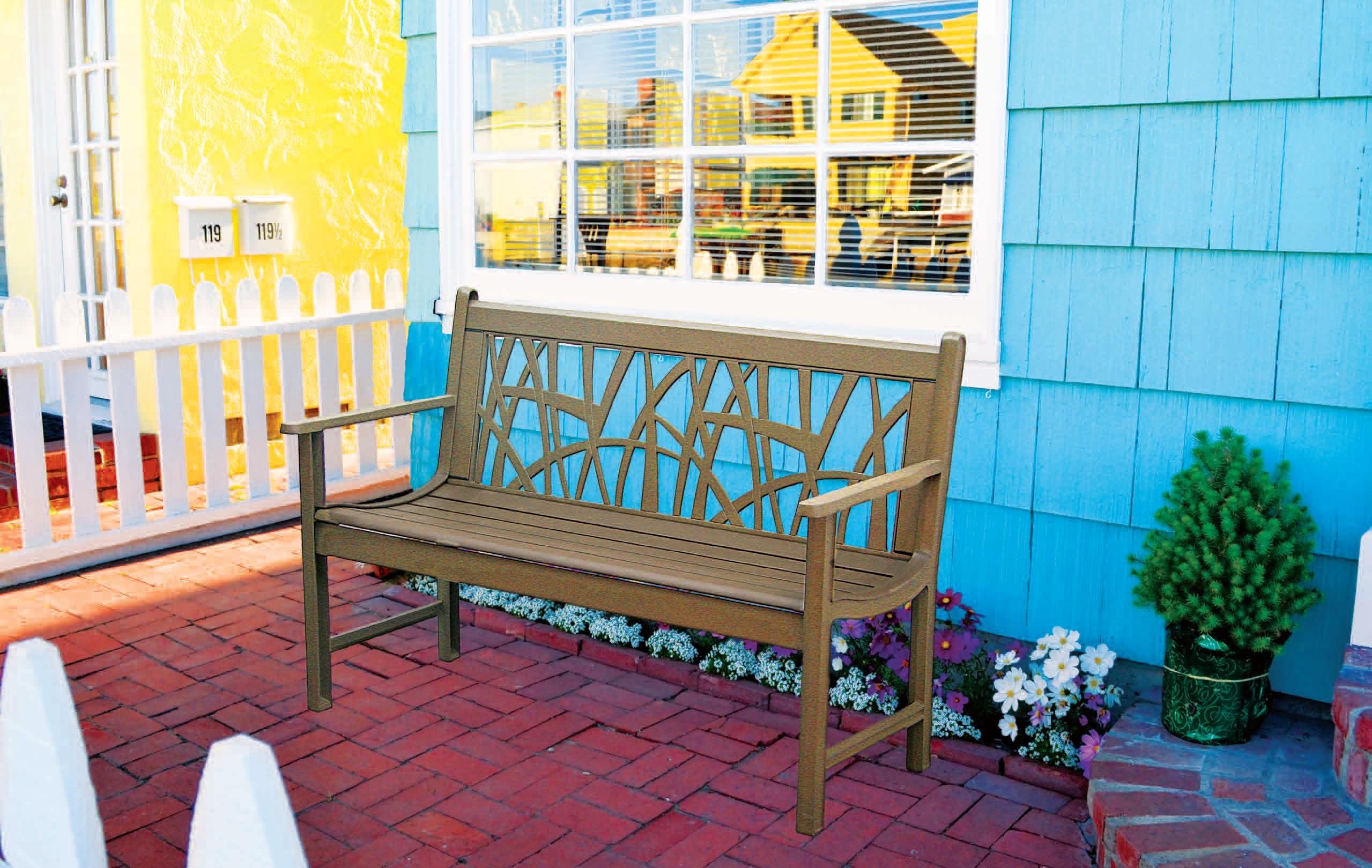 Patio Furniture Bench Traditional Aluminum Mississipi
