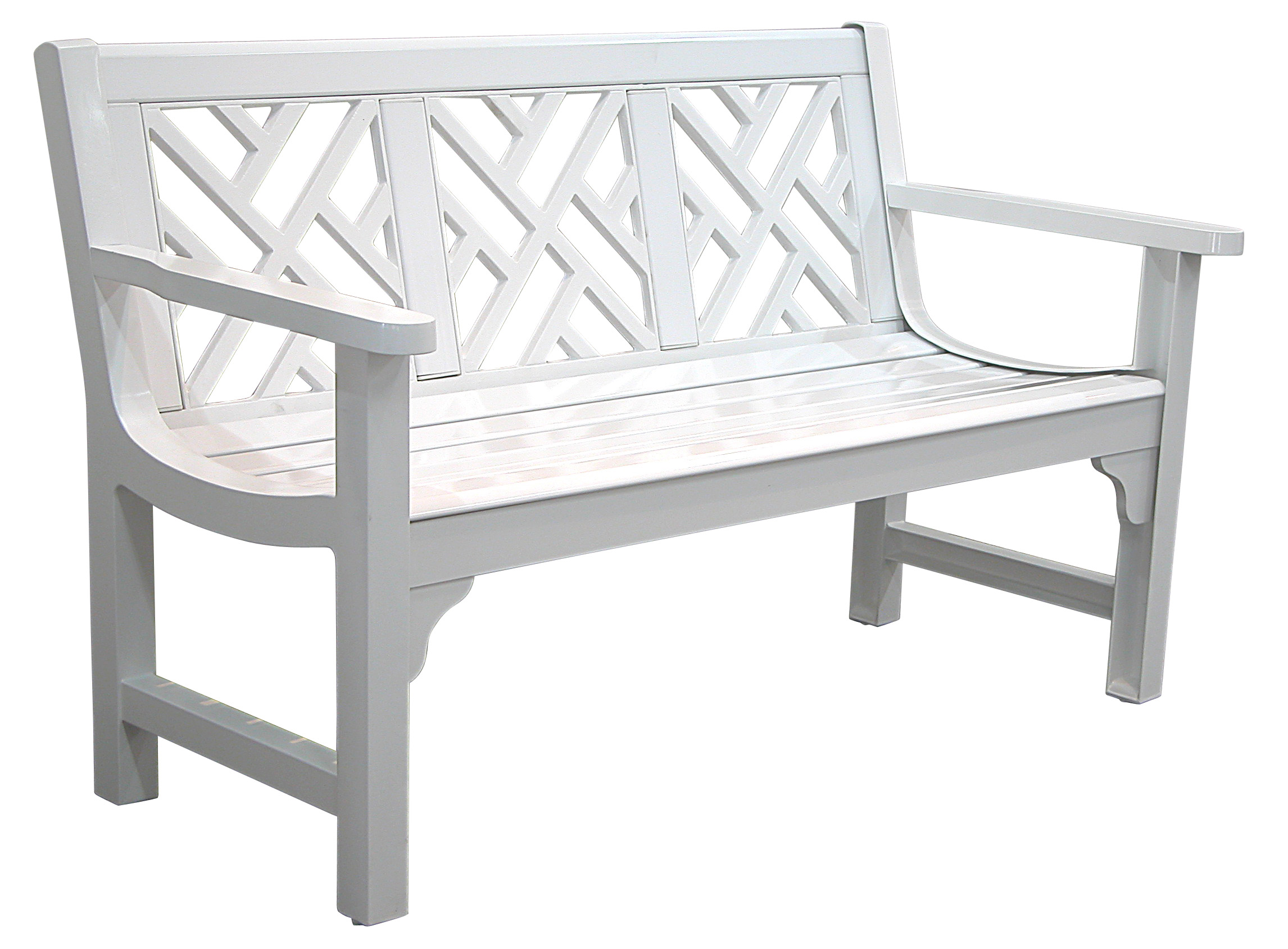 Patio Furniture Bench Aluminum Chippendale