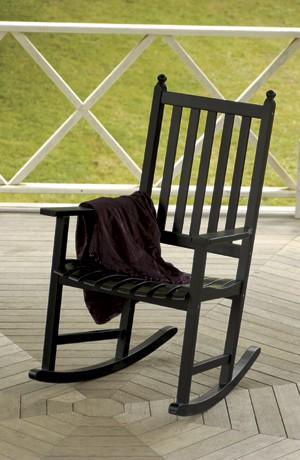Patio Furniture Rocker Eucalyptus Grandis Black